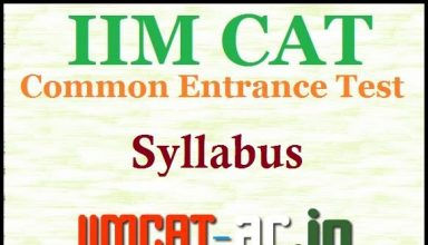 CAT 2016 Exam Syllabus (Official) - Check here @ iimcat.ac.in