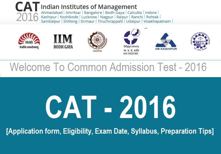 CAT 2016 Notification - New Pattern, Exam Date @ iimcat.ac.in