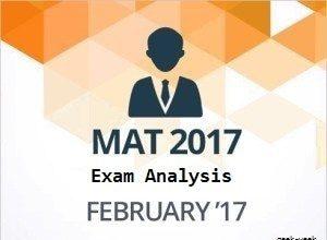 Mat 2017 Exam Analysis & Cutoffs