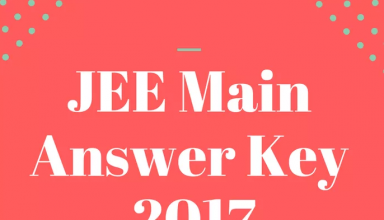 JEE Main Answer Key (SET A,B,C,D) 2017 - Live Analysis @ jeemain.nic.in