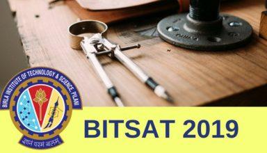 BITSAT Application Form 2019