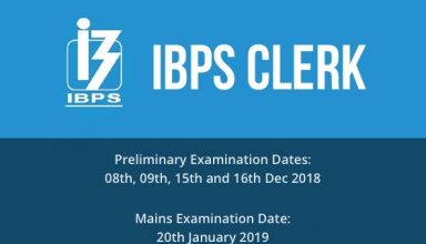 IBPS Clerk Recruitment 2018